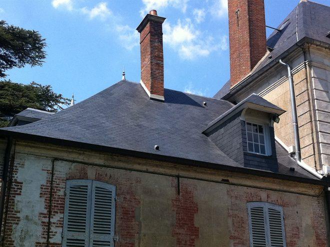 Rénovation toiture - Ardoises d'Angers - Carlier Baudoin